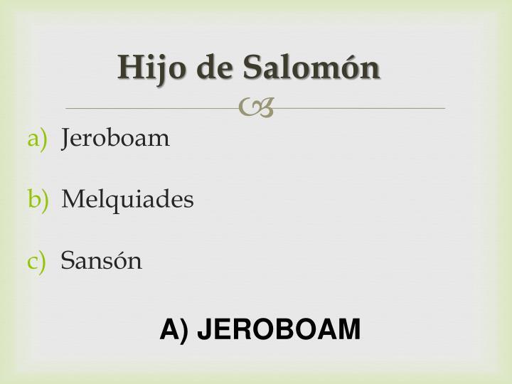 Hijo de Salomón