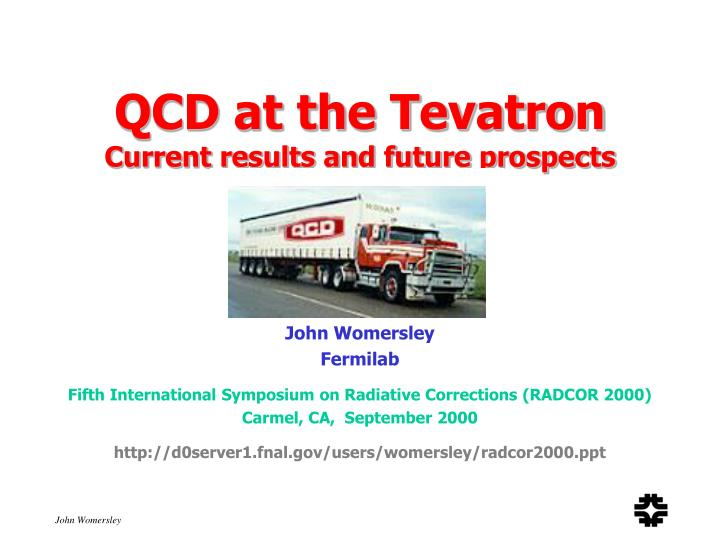 qcd at the tevatron current results and future prospects