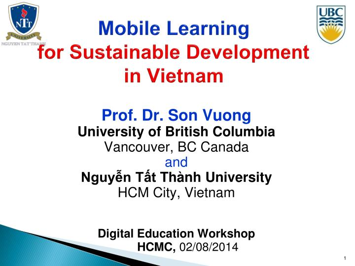 mobile learning for sustainable development in vietnam n.