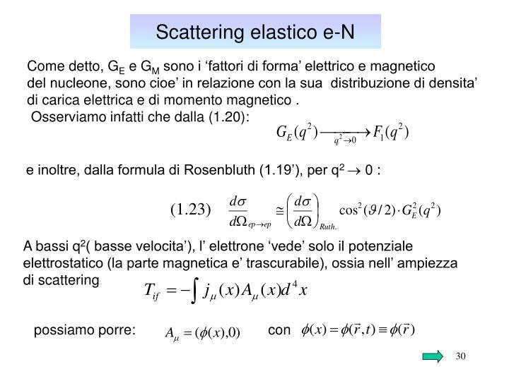 Scattering elastico e-N