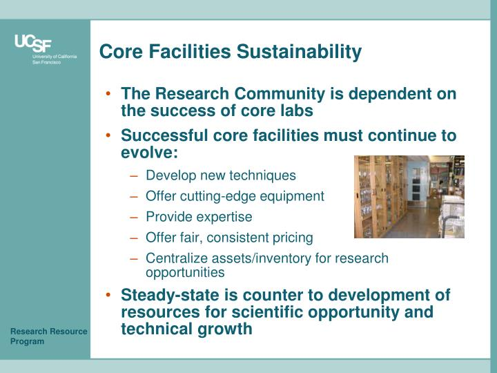 Core Facilities Sustainability