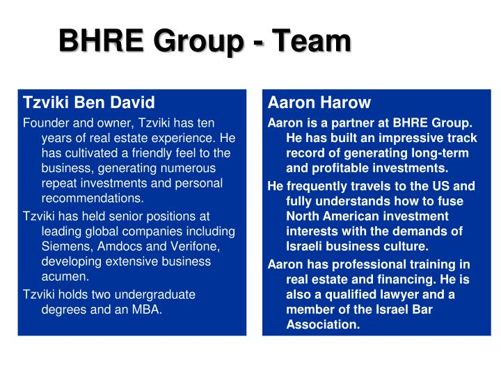 BHRE Group - Team