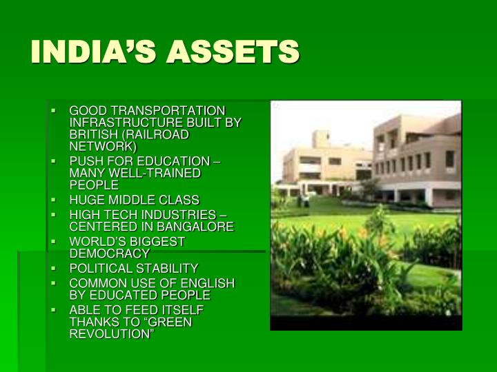 INDIA'S ASSETS