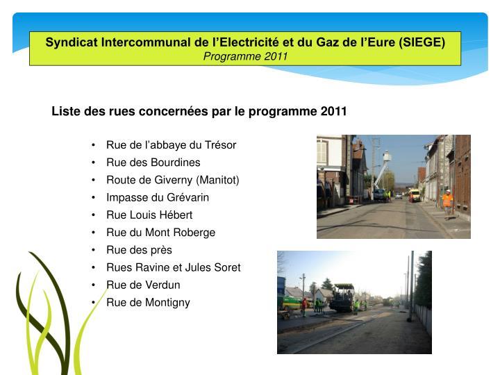 Syndicat Intercommunal de l'Electricité et du Gaz de l'Eure (SIEGE)