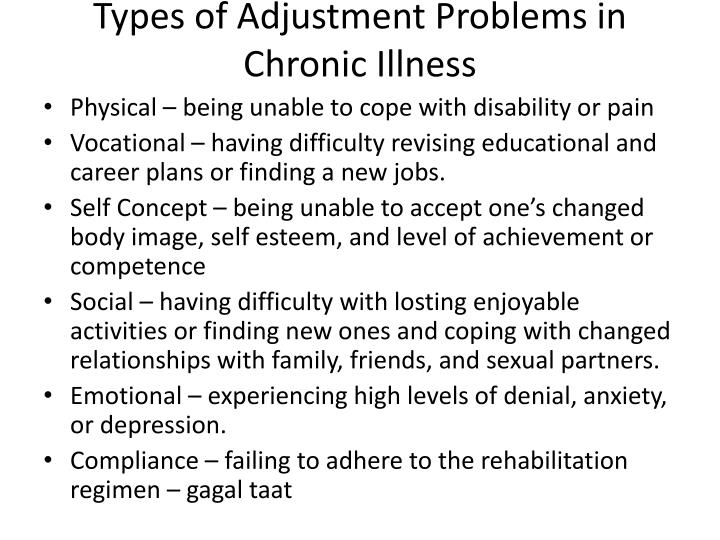 Types of Adjustment Problems in Chronic Illness