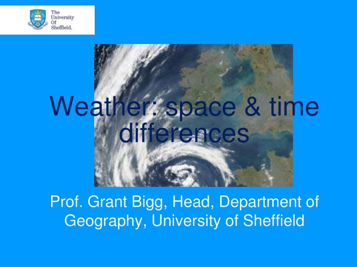 weather space time differences