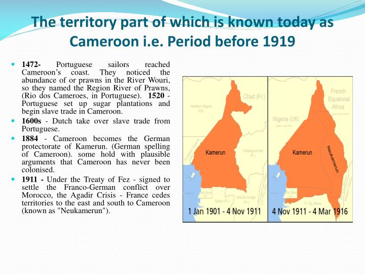 the republic of cameroon essay Main events in cameroon history home cameroon timeline ahidjo proclaims independence of the republic of cameroon in the former french cameroon.