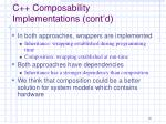 c composability implementations cont d