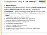 grundfragenbereich evang kath theologie