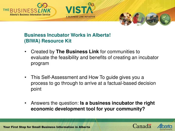 Business Incubator Works in Alberta!