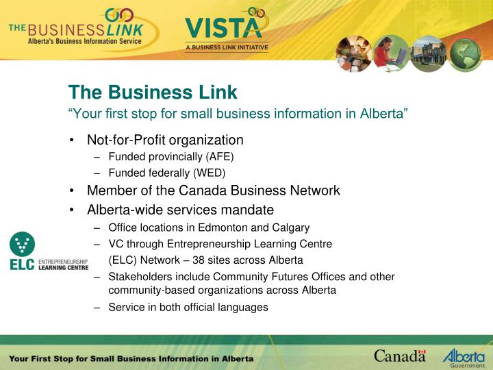 The business link your first stop for small business information in alberta