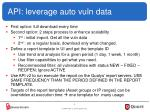 api leverage auto vuln data