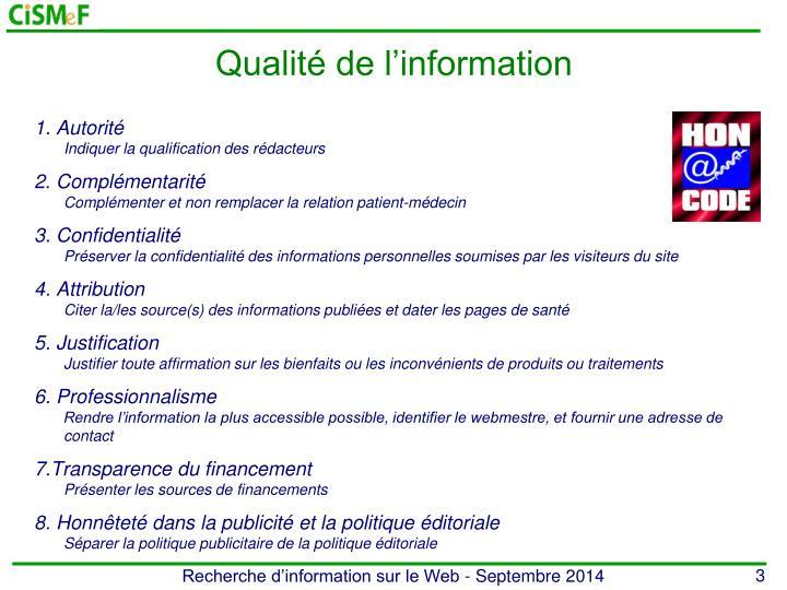 Qualit de l information