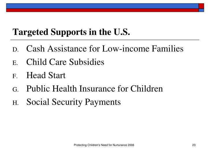 Targeted Supports in the U.S.