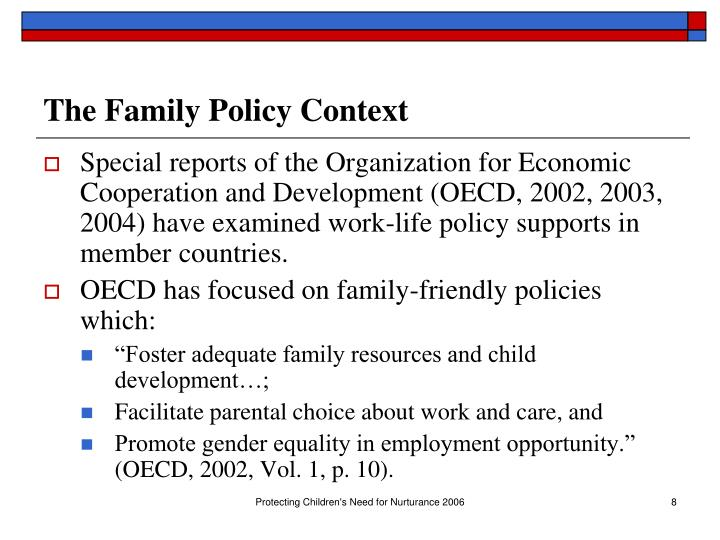 The Family Policy Context