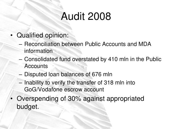 Audit 2008
