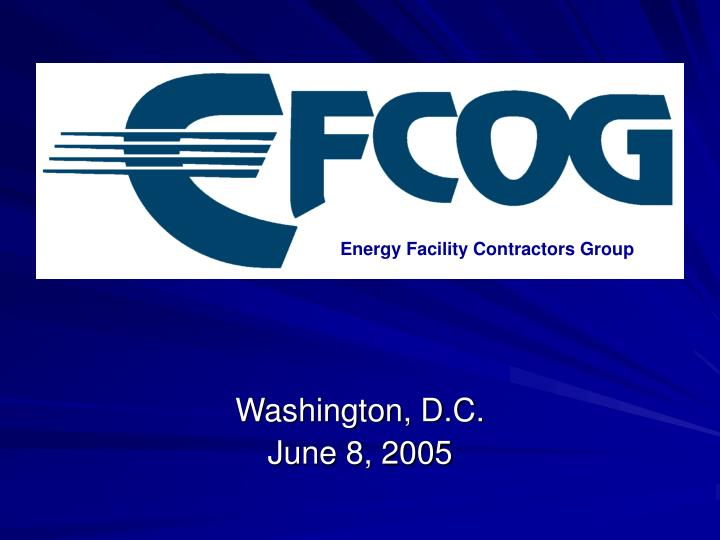 Energy Facility Contractors Group