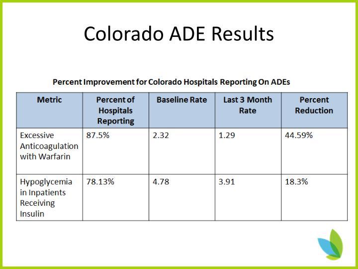 Colorado ADE Results