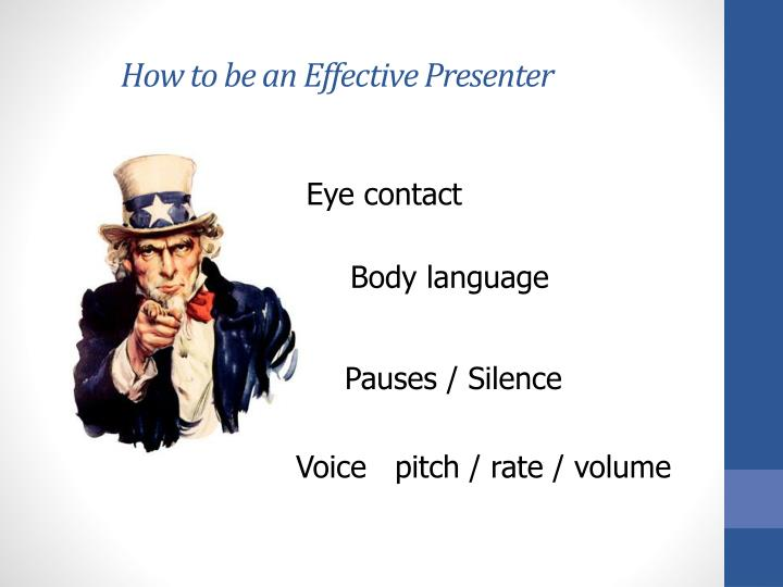 How to be an Effective Presenter