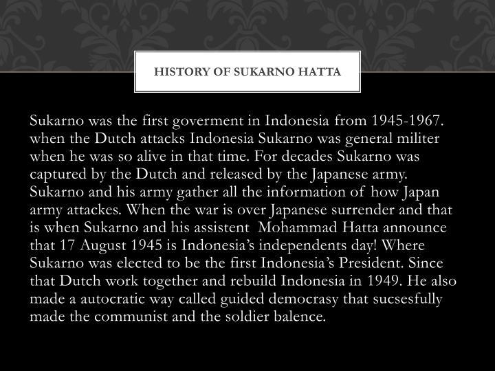 History of sukarno hatta