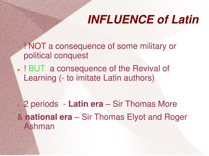 Influence of latin