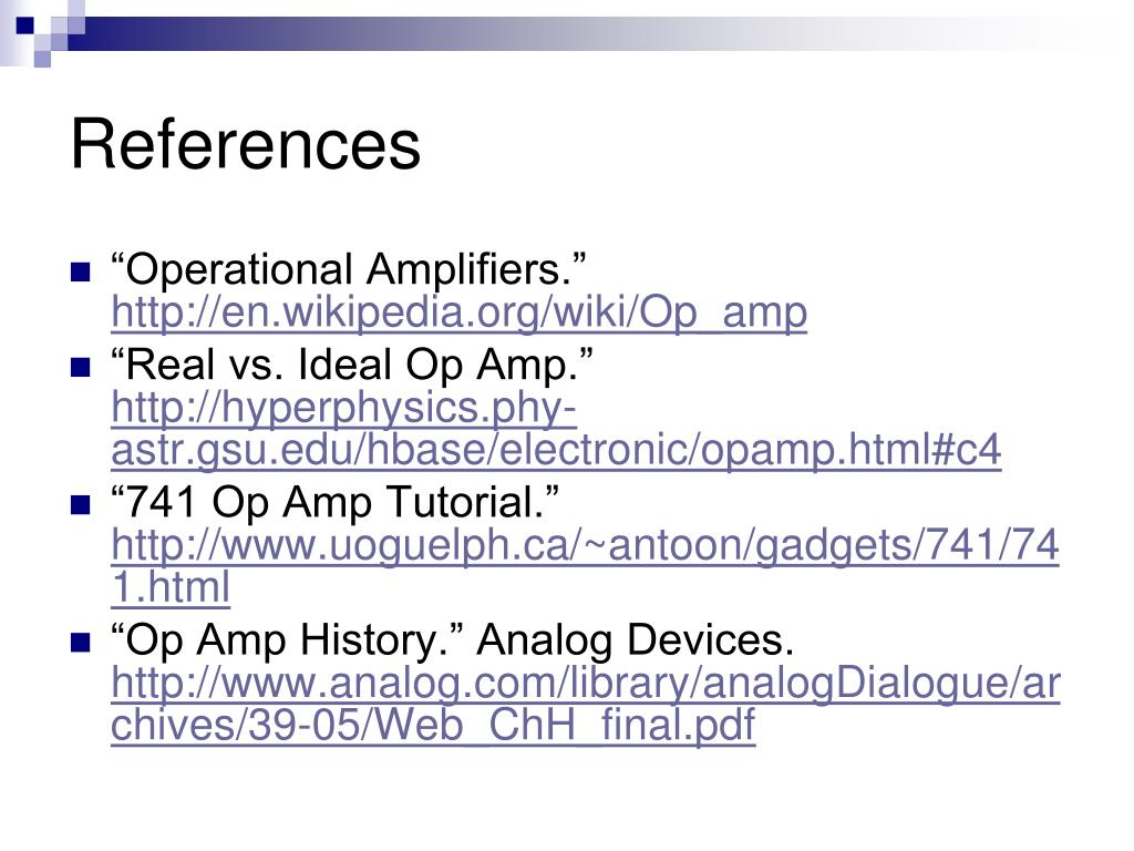 PPT - Operational Amplifiers PowerPoint Presentation - ID