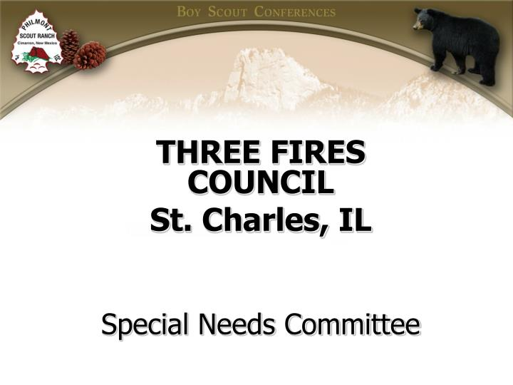 three fires council st charles il special needs committee n.