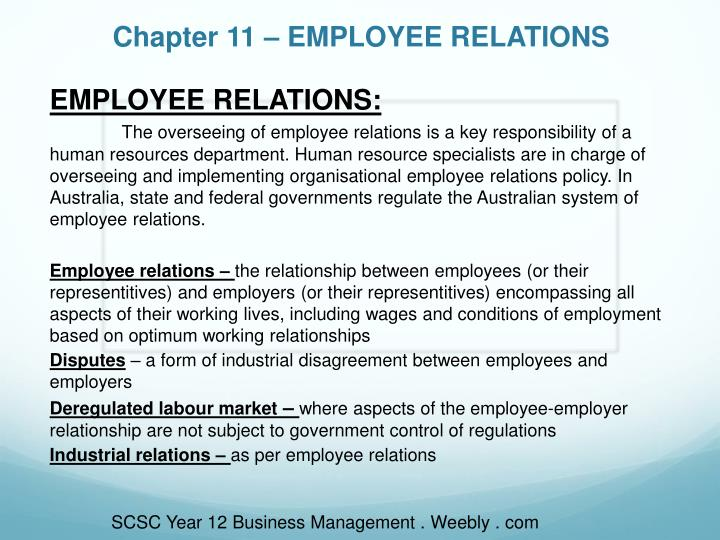 reciprocal relationship between employee and employer Top ten tips disclaimer relationships within the workplace  many employers are concerned about inappropriate relationships within a company's workforce the extent to which an employer may legitimately respond to what it determines is inappropriate behavior between employees in terms of interpersonal relationships is really dependent upon the employer's policy.