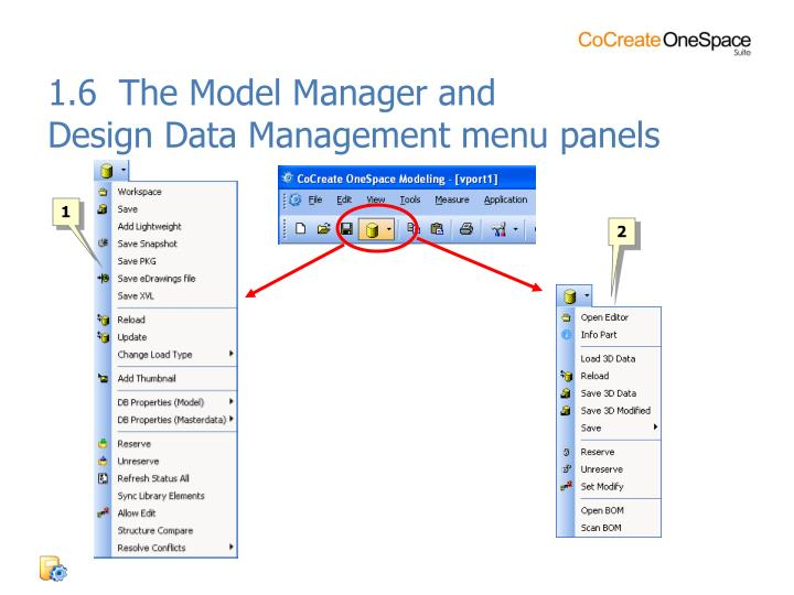 1.6  The Model Manager and