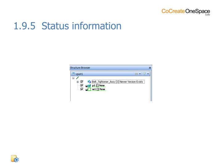 1.9.5  Status information