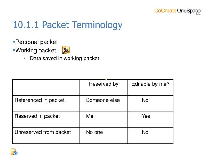 10.1.1 Packet Terminology