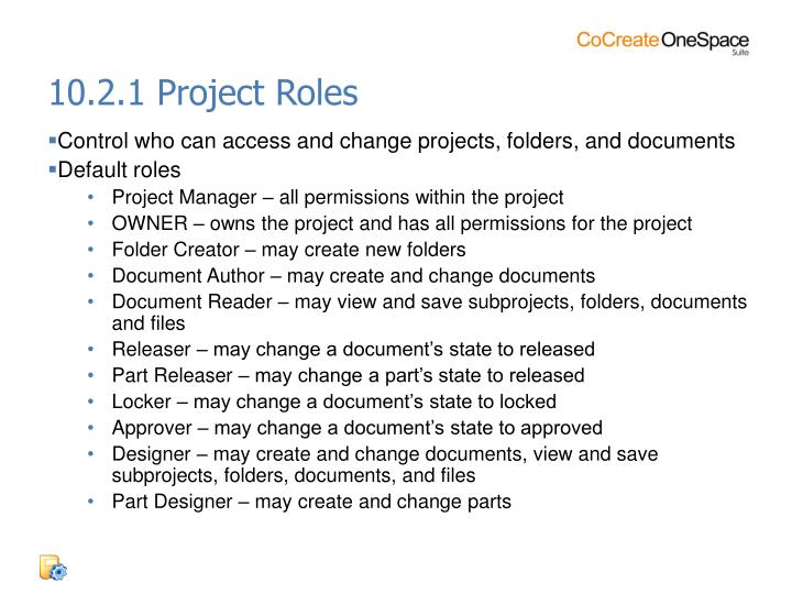 10.2.1 Project Roles