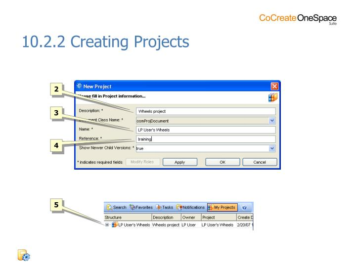 10.2.2 Creating Projects