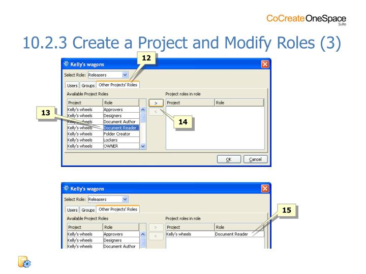 10.2.3 Create a Project and Modify Roles (3)