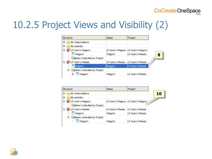 10.2.5 Project Views and Visibility (2)