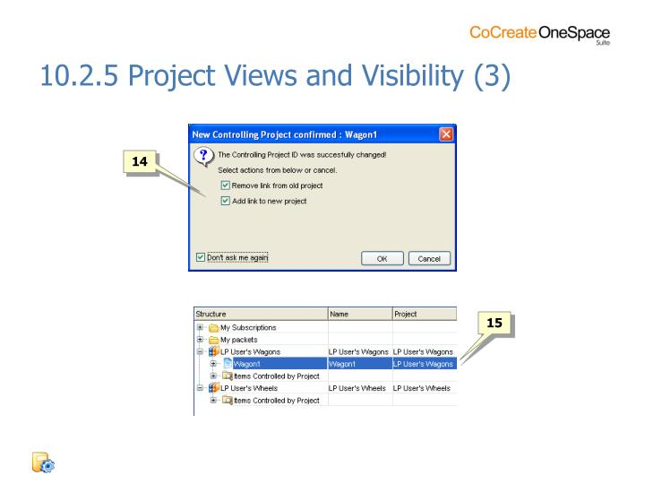 10.2.5 Project Views and Visibility (3)