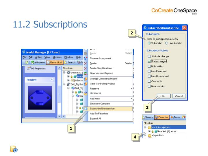 11.2 Subscriptions
