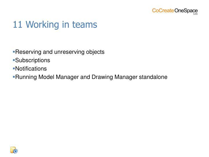 11 Working in teams