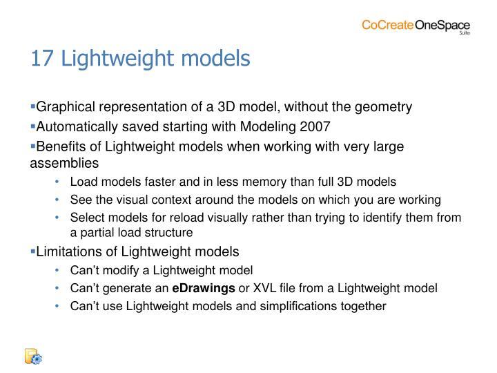 17 Lightweight models