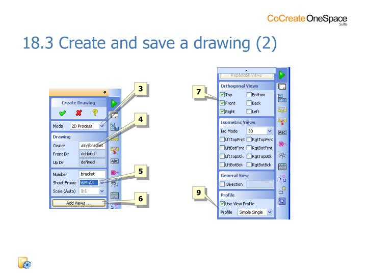 18.3 Create and save a drawing (2)