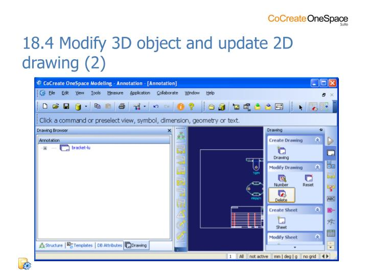 18.4 Modify 3D object and update 2D drawing (2)