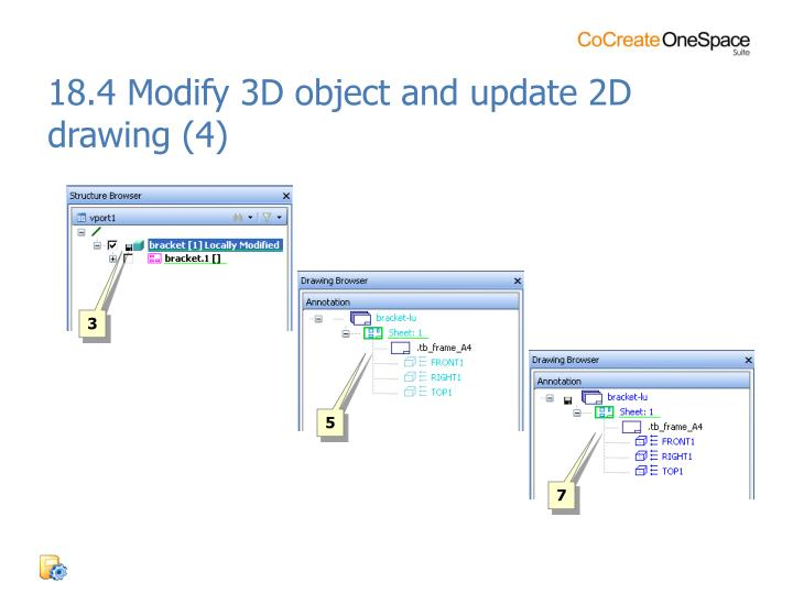 18.4 Modify 3D object and update 2D drawing (4)