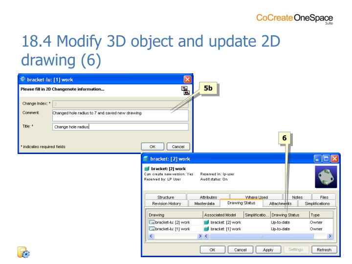 18.4 Modify 3D object and update 2D drawing (6)