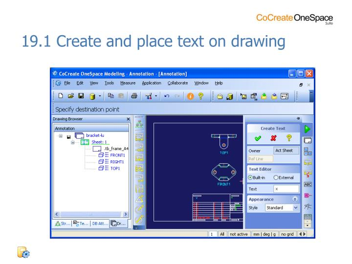 19.1 Create and place text on drawing