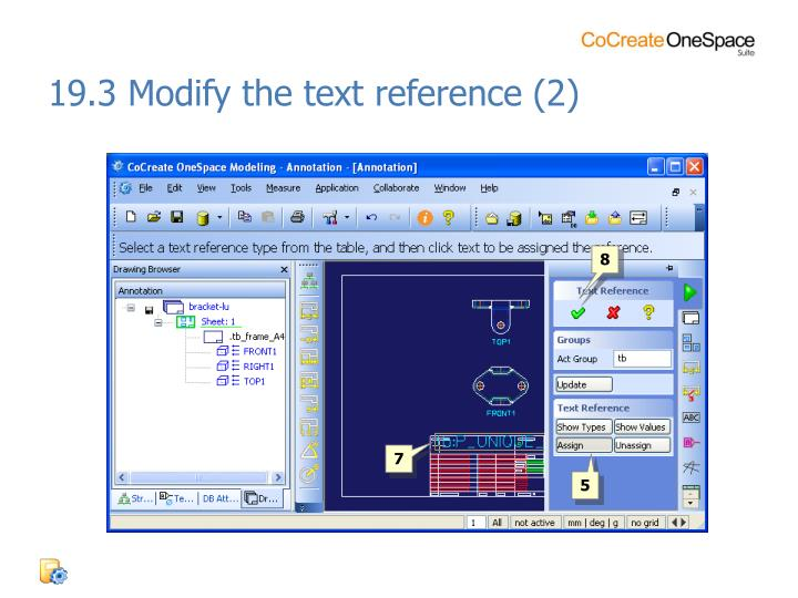 19.3 Modify the text reference (2)