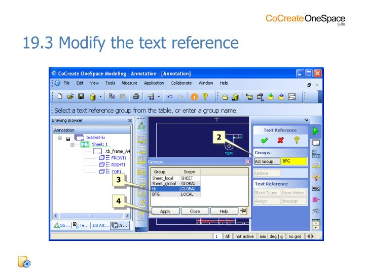 19.3 Modify the text reference