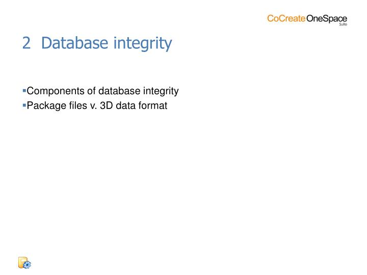 2  Database integrity