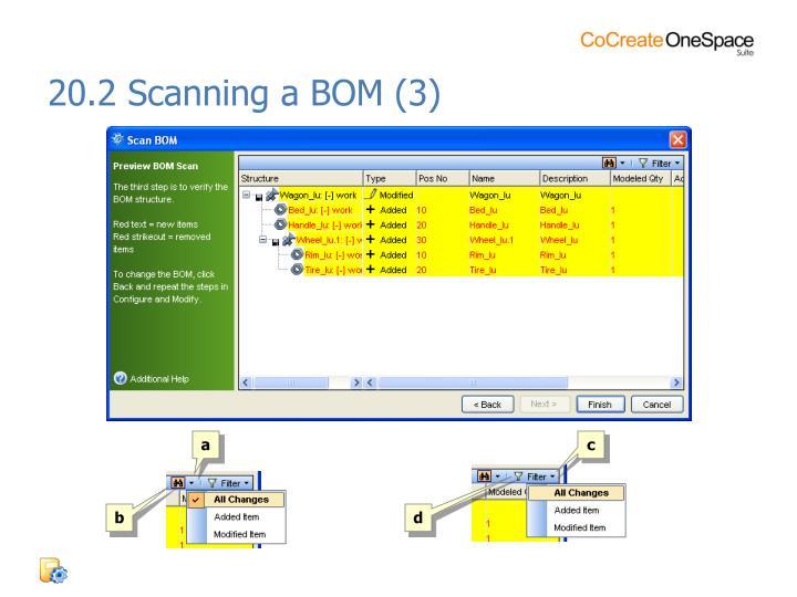 20.2 Scanning a BOM (3)