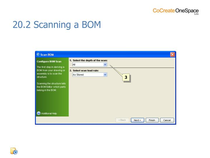 20.2 Scanning a BOM