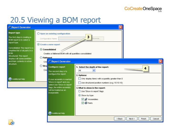 20.5 Viewing a BOM report